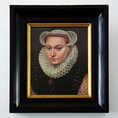 Old print of a portrait of a young woman by Frans Pourbus the elder. The original portrait has been signed and dated 1581. The print is framed in a solid antique wooden frame. Vintage condition. Dimensions print 23 cm x 29,5 cm. Dimensions frame 38 cm x 44,5 cm