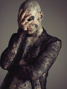 Rick Genest - I'm not interested in this many tattoos, but the design is amazing.