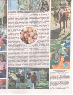 Did you see the article in last week's Village Times Herald about the apple festival?  So happy to see our photo in there!