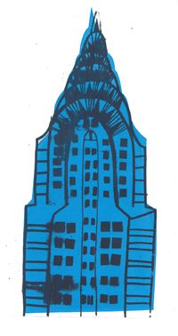 Chrysler Building Screen Print