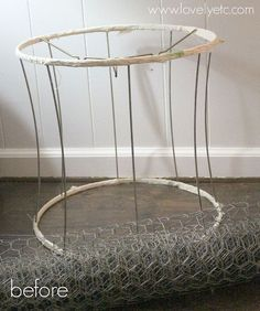 how to turn an old lampshade into a metal basket, crafts, repurposing upcycling, storage ideas