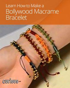 How to Make a Bollywood Macrame Bracelet