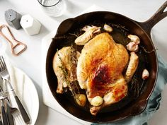 Get Food Network Kitchen's Chicken Under a Brick Recipe from Food Network