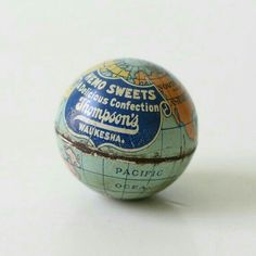 Advertisement on a globe!