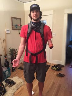 My one armed friend is dressing up as the guy from 127 Hours. Pants will be shat.