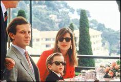 Princess Caroline of Monaco,Stefano Casiraghi and Andrea. Andrea Casiraghi, Charlotte Casiraghi, Princess Alexandra, Princess Stephanie, Princess Charlene, Grace Kelly, Prince Rainier, Beatrice Borromeo, Royals
