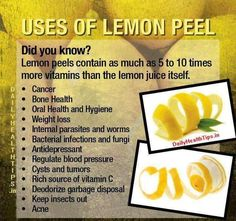 What do you do with the lemon peels? Check out some of their amazing uses.