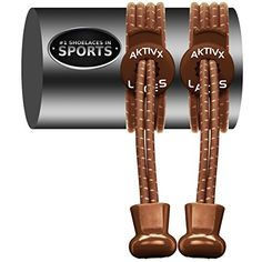 AKTIVX SPORTS LACES  No Tie Shoelaces that Lock  Replacement Elastic Shoelaces Athletic Laces for Running Gear Accessories Mens Womens or Kids Shoes Fitness Exercise Equipment Brown * Read more at the image link.