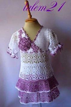 """Blusa de crochê infantil - """"Crochê da Mimi"""""""