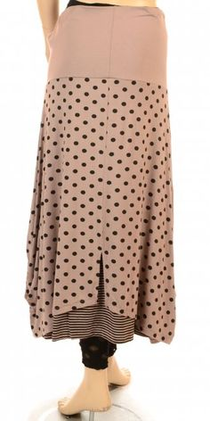 G'ioze Funky Rosewood Dot & Stripe Skirt - G'ioze from idaretobe.com UK