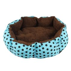 Pet Nest Mat, FTXJ Fleece Pet Dog Puppy Cat Polkadot Detachable Warm Bed House Plush Cozy Nest Mat Pad * Want additional info? Click on the image. (This is an affiliate link and I receive a commission for the sales)