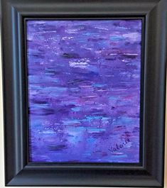 Items similar to SHIPS FREE Original Art Acrylic Painting on Canvas Purple Blue Black Abstract Black Frame Beauty in the Rain Signed Wall Decor Gift on Etsy Vintage Painting, Black Abstract, Abstract Painting, Vintage Artwork, Art, Original Art, Painting Frames, Blue Abstract Painting, Acrylic Painting Canvas