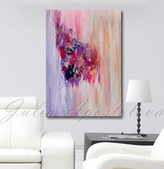 Hey, I found this really awesome Etsy listing at https://www.etsy.com/listing/200917357/abstract-painting-large-print-purple