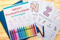 Free Alphabet Preschool Worksheets printable! Fun way for your children to learn the alphabet letters. Each page includes fun alphabet activities!