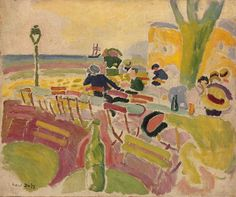 Raoul Dufy - Terrace Overlooking The Beach (1907)