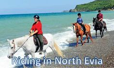 horse riding by the sea...