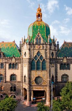 """Art Nouveau architecture, Museum of Applied Arts, Budapest, Hungary """