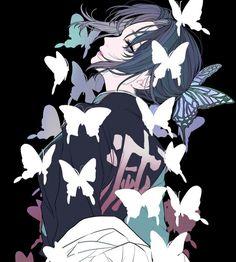 Kimetsu no yaiba / Demon slayer : Shinobu Kocho Anime Angel, Anime Demon, Manga Anime, Anime Art, Demon Slayer, Slayer Anime, Era Taisho, Animé Fan Art, Anime Kunst