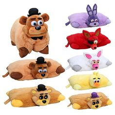 PLUSH PILLOW CUSHION 20PCS. FIVE NIGHTS AT FREDDY'S NIGHTMARE RED FOXY MANGLE BEAR BONNIE SHADOW SOFT STUFFED.