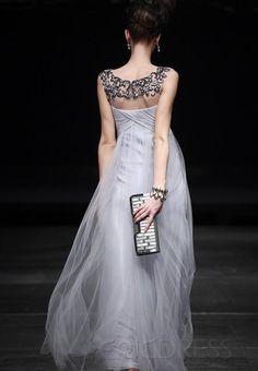 Gorgeous A-Line Floor-Length Bateau Neckline Prom/Evening Dress 2