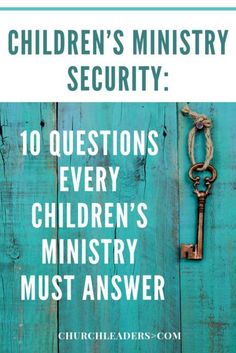 An effective safety and security plan doesn't happen by accident. It is created by a team of people who are diligent to protect children and families at their church. Find out more about children's ministry security. Kids Church Rooms, Church Nursery, Children Church, Sunday School Teacher, Sunday School Lessons, School Staff, Youth Ministry, Ministry Ideas, Church Ministry