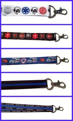 First Responder Lanyards &  Keychains ( 911 Dispatch, Firefighter, Police, EMS) #Unbranded