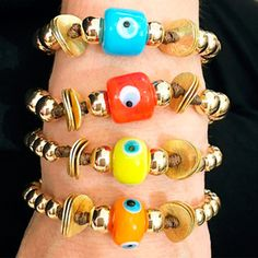 Bracelets By Vila Veloni Multicolor Eyes