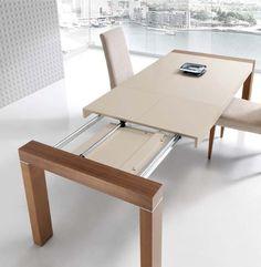 Mesa de comedor 120 x 75 cm patas con forma isabelina en for Mesa cristal 110 x 70