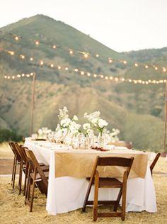 Decora tu boda con tela de arpillera