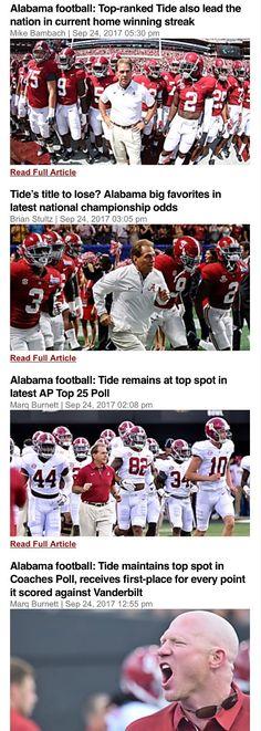 Alabama headlines after their dominant performance on Saturday - Alabama 59 Vanderbilt 0 #Alabama #RollTide #Bama #BuiltByBama #RTR #CrimsonTide #RammerJammer