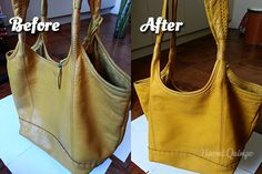 DIY Bag Restoration: How to clean a leather purse Clean Leather Purse, Leather Purse Cleaner, Leather Purses, Leather Handbags, Diy Bag Restoration, Leather Restoration, Diy Handbag, Diy Purse, Cleaning Leather Car Seats