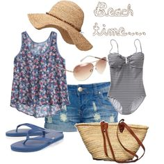 """beach time..."" by sweetfairytale on Polyvore"