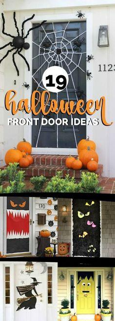 19 Hauntingly Awesome Halloween Door Decorating Ideas via @spaceshipslb