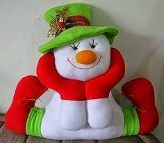Pattern for a felt snowman