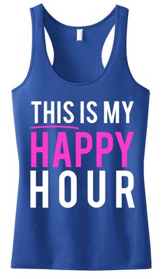 This Is My Happy Hour #Workout #Tank -- By #NobullWomanApparel, for only $24.99! Click here to buy http://nobullwoman-apparel.com/collections/fitness-tanks-workout-shirts/products/this-is-my-happy-hour-workout-tank