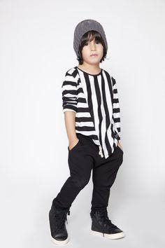 MINIMALIST - WINTER #Black&White #Asymmetric Shirt