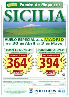 """SICILIA - Vuelo Especial - """"Puente de Mayo"""", salida 30 de Abril dsd Mad (4d/3n) p.f. dsd 439€ ultimo minuto - http://zocotours.com/sicilia-vuelo-especial-puente-de-mayo-salida-30-de-abril-dsd-mad-4d3n-p-f-dsd-439e-ultimo-minuto-2/"""