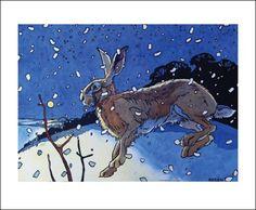 'Winter Hare II' by Andrew Haslen (A065w)