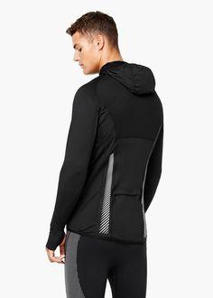 Camiseta técnica running capucha | MANGO MAN