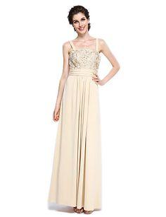 Футляр Платье для матери невесты - Элегантный стиль До щиколотки Короткий рукав…