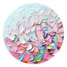 Yoshino Petals by Ann Marie Coolick #oilpaintings #modernart #impasto #flowers #saatchiart