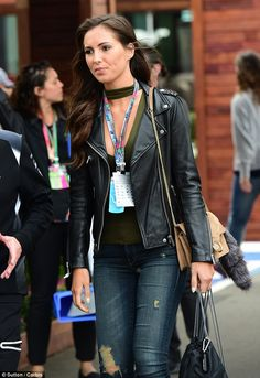 Showing her support: Jenson Button's new girlfriend Brittny Ward looked like she was alrea...