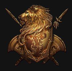Fantasy Rpg, Medieval Fantasy, Chest Piece Tattoos, Game Ui Design, Angel Warrior, Game Props, Game Icon, Knights Templar, Crests
