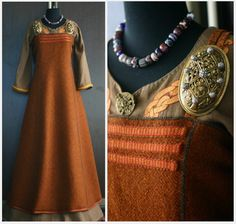 Great idea for decorating the front of the apron dress, appliqué on the tunic