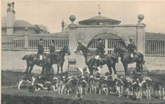 Sadelmageriet F. GB. USA Frank Gillard and the Belvoir Hounds, 1889.