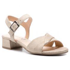 Sandály CAPRICE - 9-28203-22 Cream Comb 155 Clarks, Furla, Cream, Sandals, Shoes, Fashion, Brown Sandals, Flats, Trendy Shoes