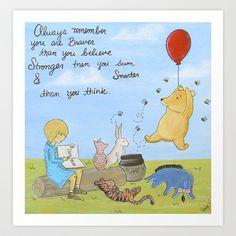 Winnie the Pooh Art Print by Marilyn Rose Ortega - $15.60