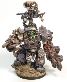 Orc Warchief in Juggernaut Mecha-Armour by Kromlech.eu = Painted by Simon Nolet aka Happy Howler