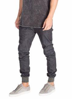 ZANEROBE NEW Men's Designer Dynamo Denim Indigo Jogger Pants Jeans Chinos $120 #Zanerobe #JoggerPants