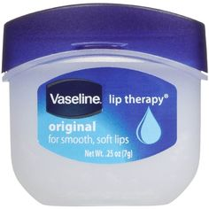 VASELINE Lip Therapy 0.25 oz Jar ❤ liked on Polyvore featuring beauty products, makeup and beauty prod.